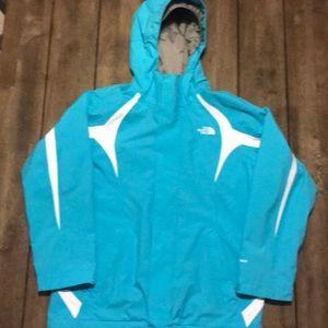 The North Face, Girls Hyvent  rain / wind  jacket.